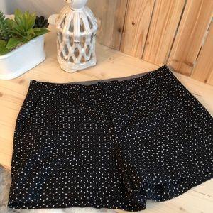 BR size 4 black/white shorts